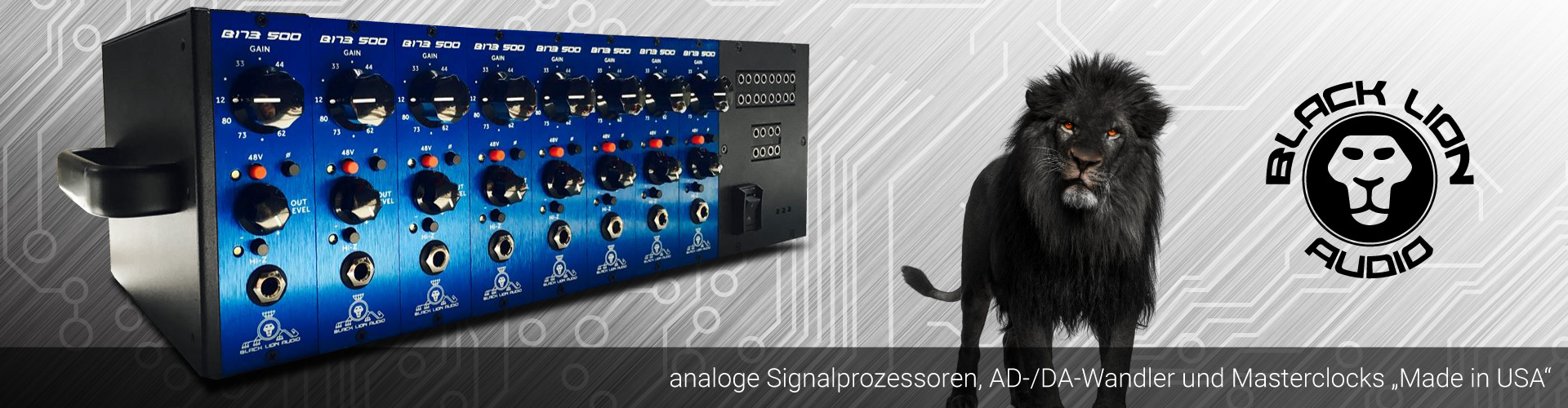 "Black Lion Audio - analoge Signalprozessoren, AD-/DA-Wandler und Masterclocks ""Made in USA"""